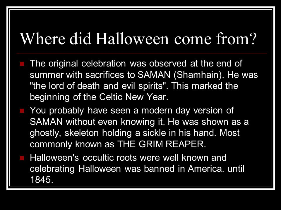 Beneath Halloween's candy coating is a history of diabolical evil ...