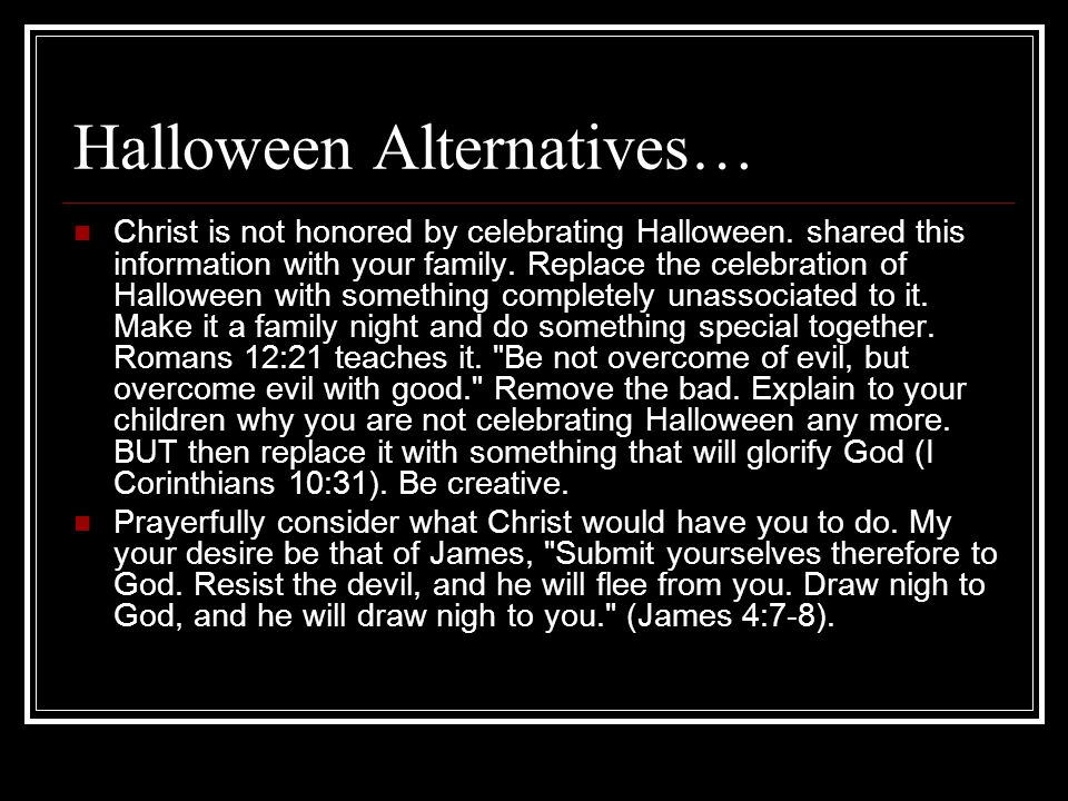 Halloween Alternatives…