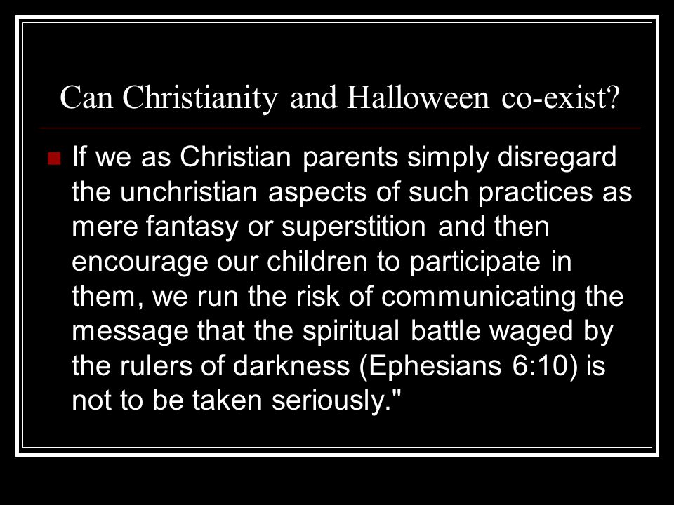 Can Christianity and Halloween co-exist