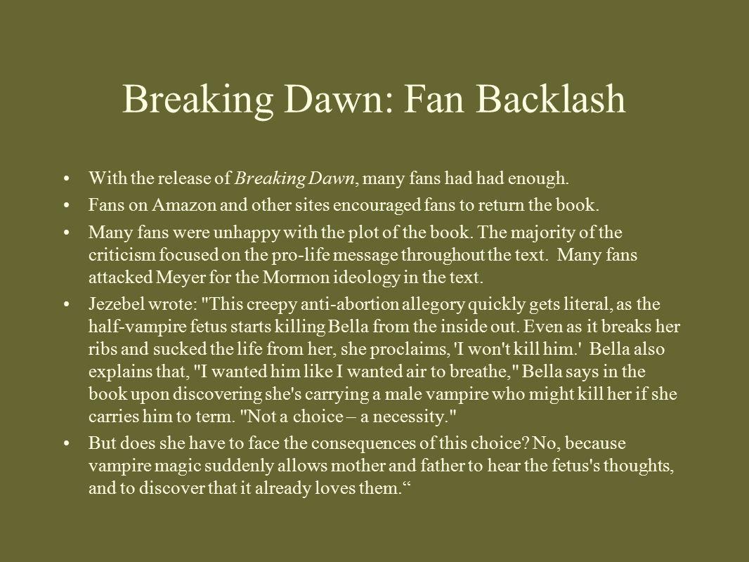 Breaking Dawn: Fan Backlash