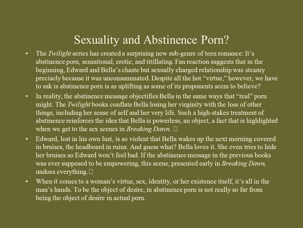 Sexuality and Abstinence Porn