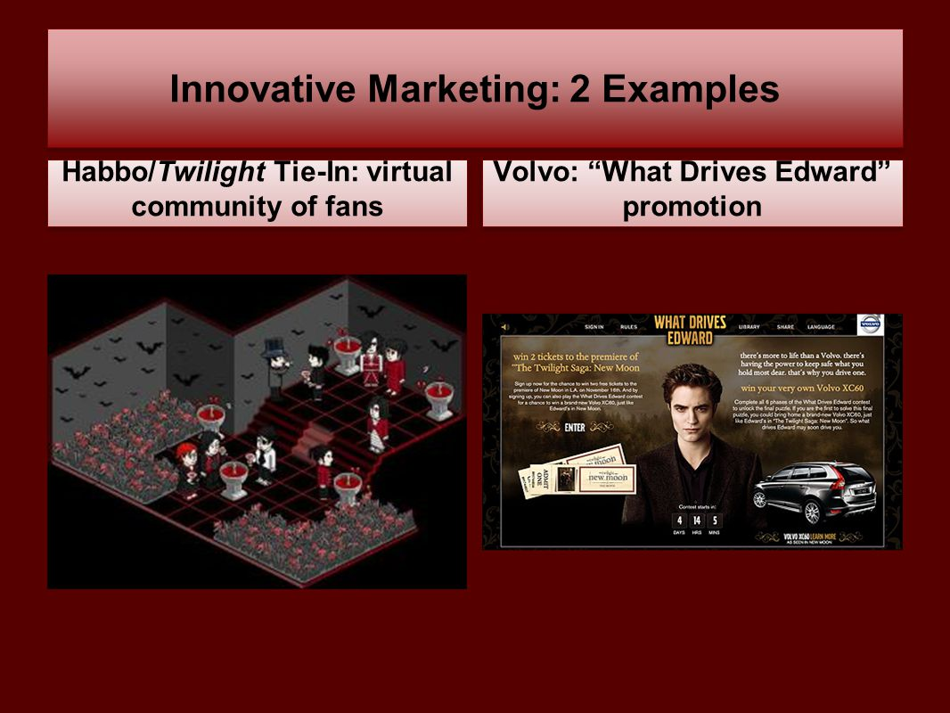 Innovative Marketing: 2 Examples