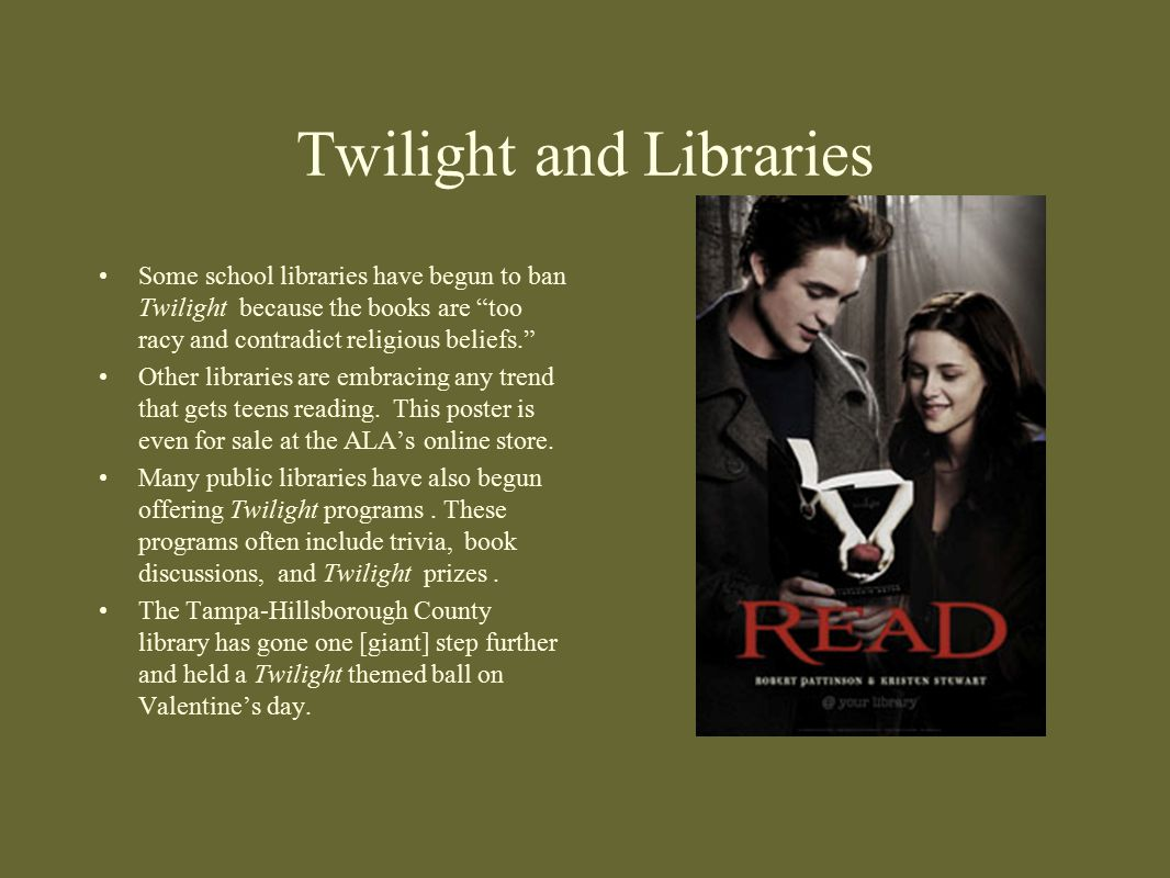 Twilight and Libraries