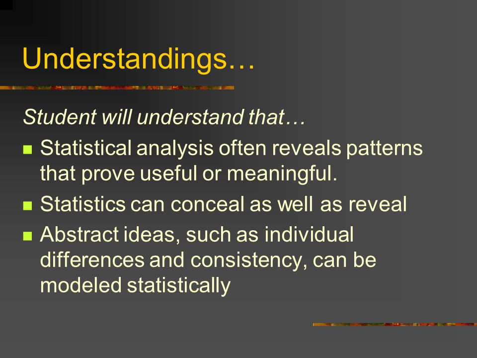Understandings… Student will understand that…