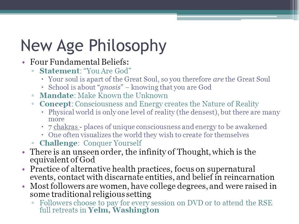 New Age Philosophy Four Fundamental Beliefs: