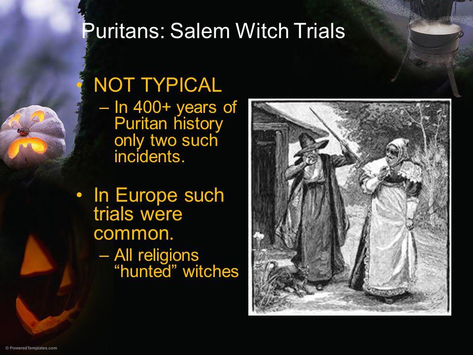 Puritans: Salem Witch Trials