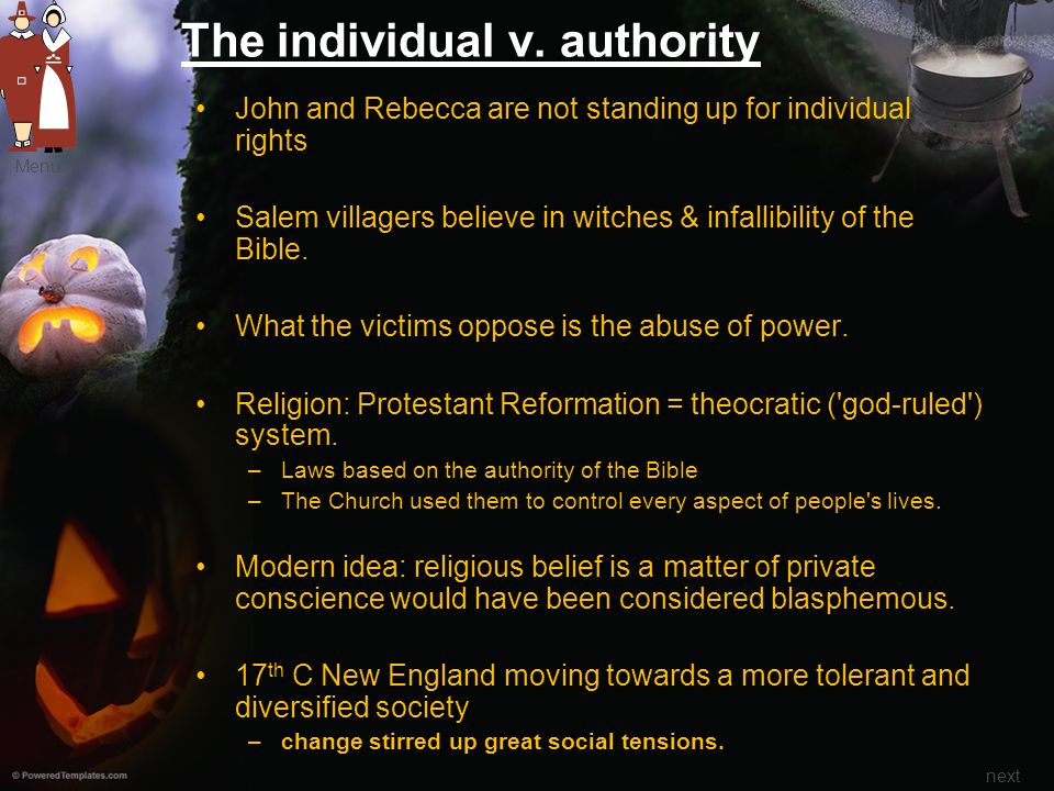 The individual v. authority