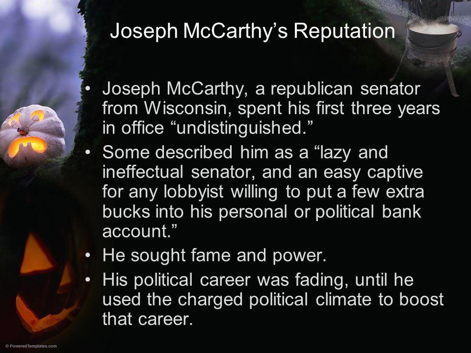 Joseph McCarthy's Reputation