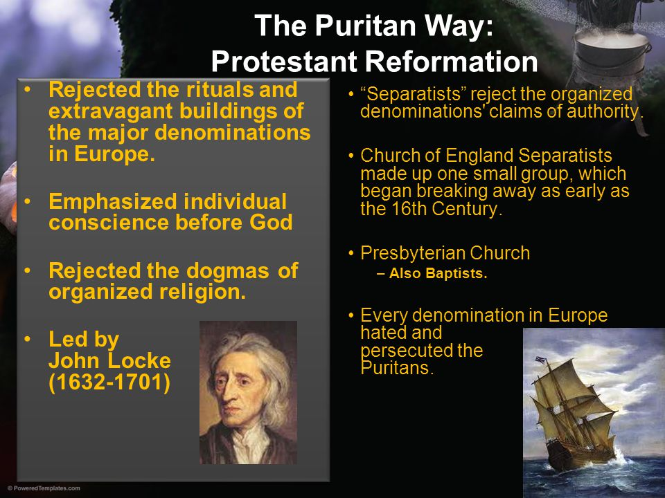 The Puritan Way: Protestant Reformation