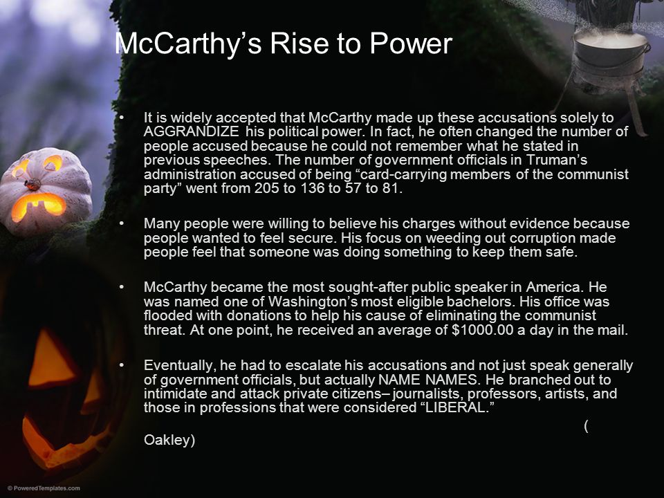 McCarthy's Rise to Power