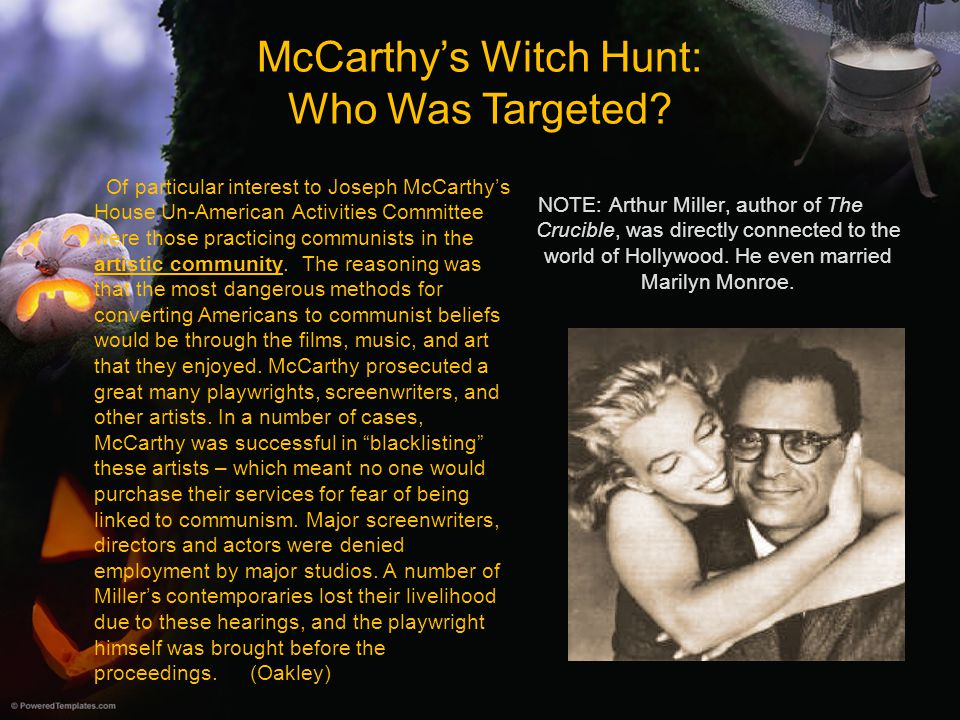 McCarthy's Witch Hunt: Who Was Targeted