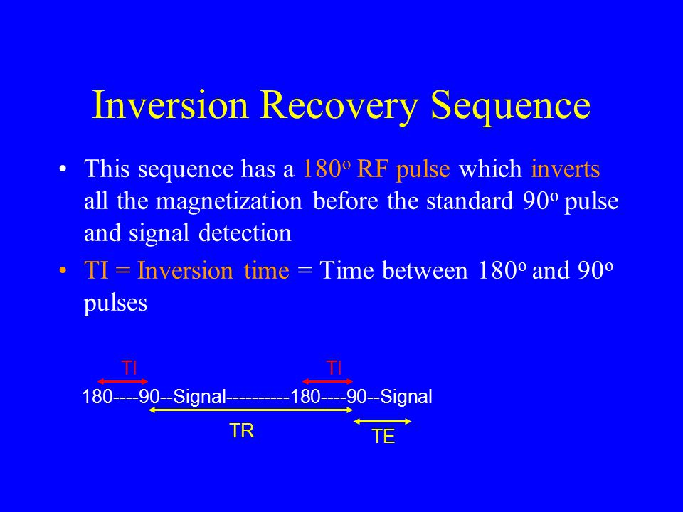 Inversion Recovery Sequence