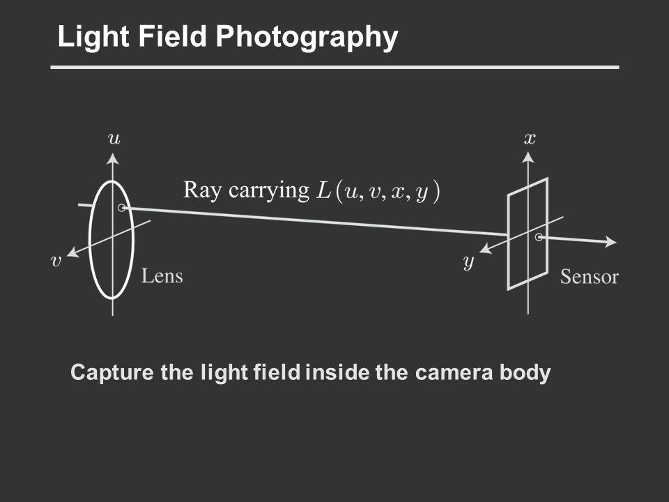 Light Field Photography