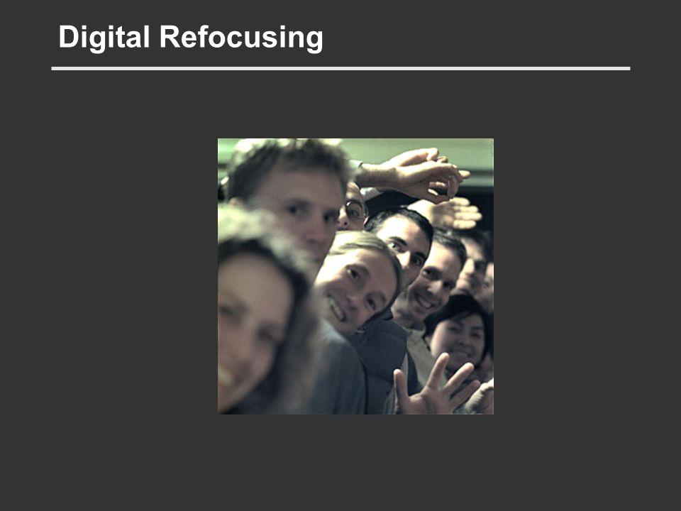 Digital Refocusing