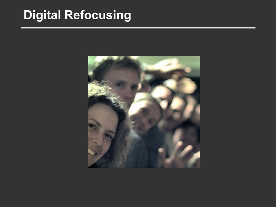 Digital Refocusing But by simulating the light light… etc…