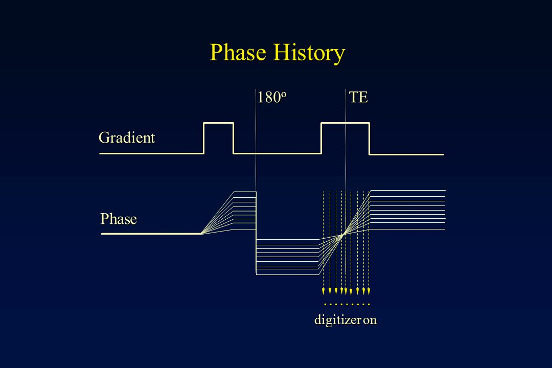 Phase History 180o TE Phase Gradient ……… digitizer on