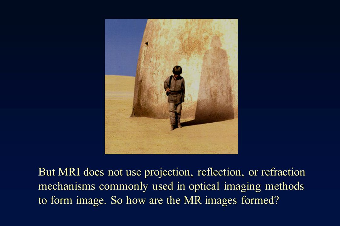 But MRI does not use projection, reflection, or refraction