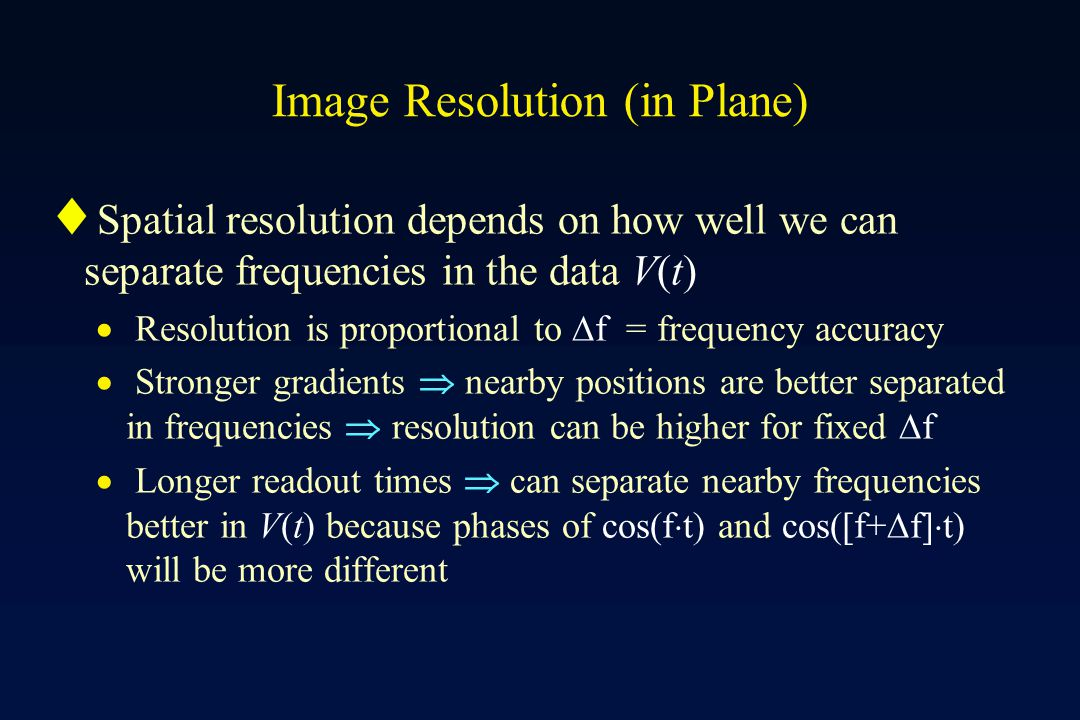 Image Resolution (in Plane)