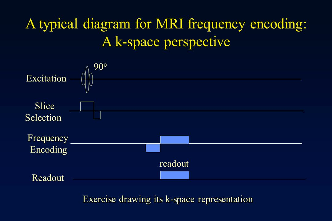 A typical diagram for MRI frequency encoding: