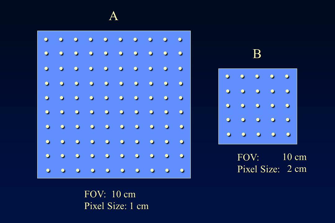 . . . . . . . . . . . . . . . A B FOV: 10 cm Pixel Size: 2 cm