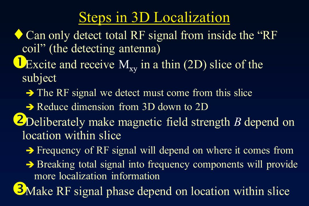 Steps in 3D Localization