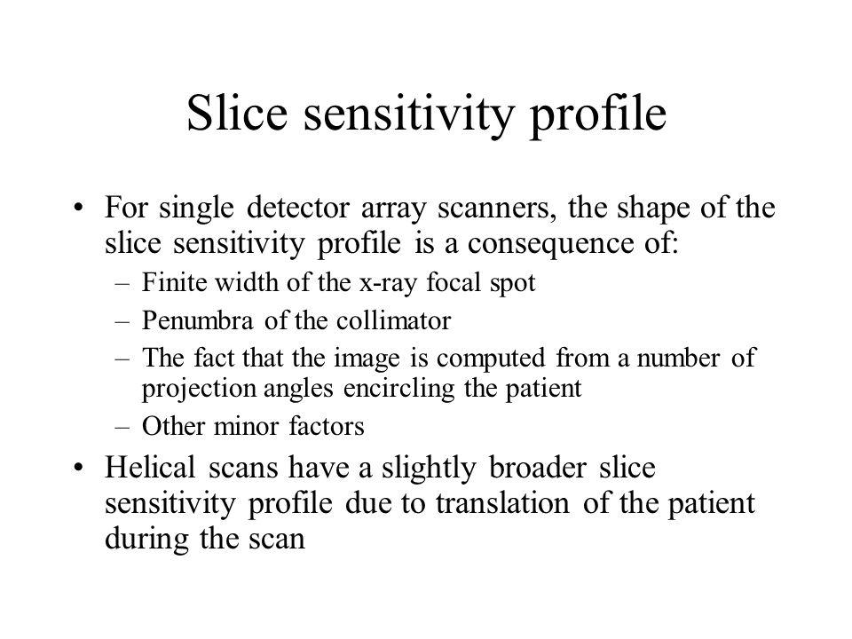 Slice sensitivity profile