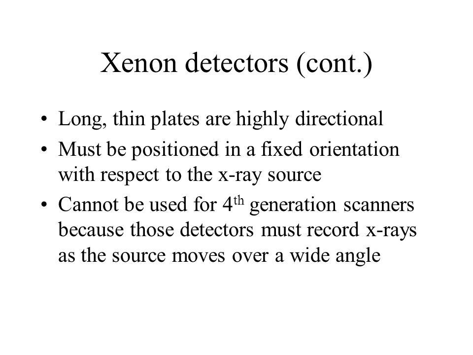 Xenon detectors (cont.)
