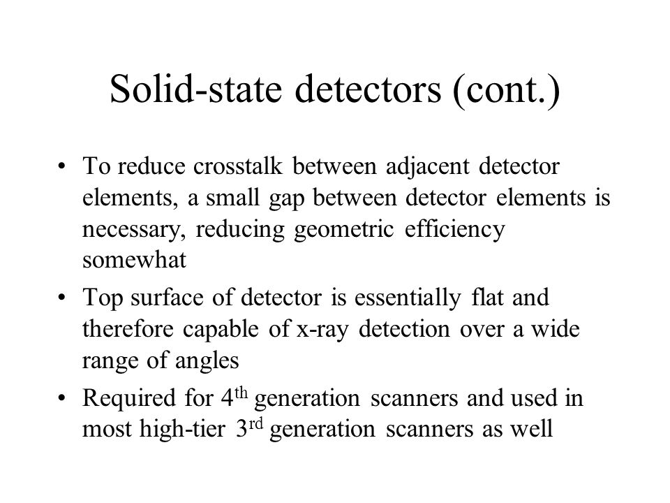 Solid-state detectors (cont.)