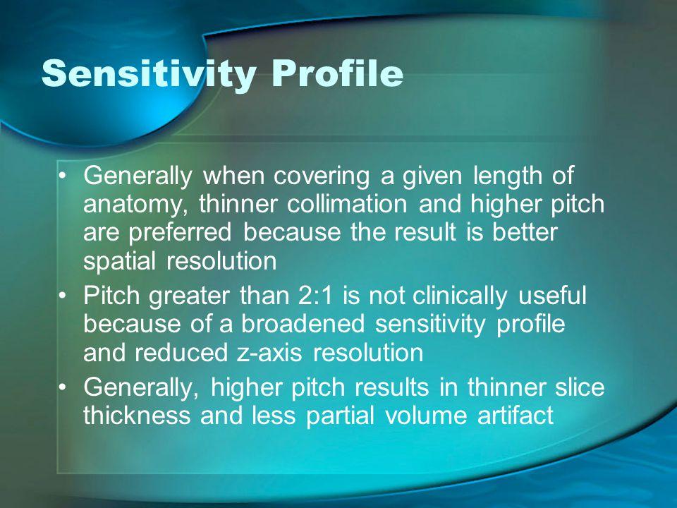 Sensitivity Profile