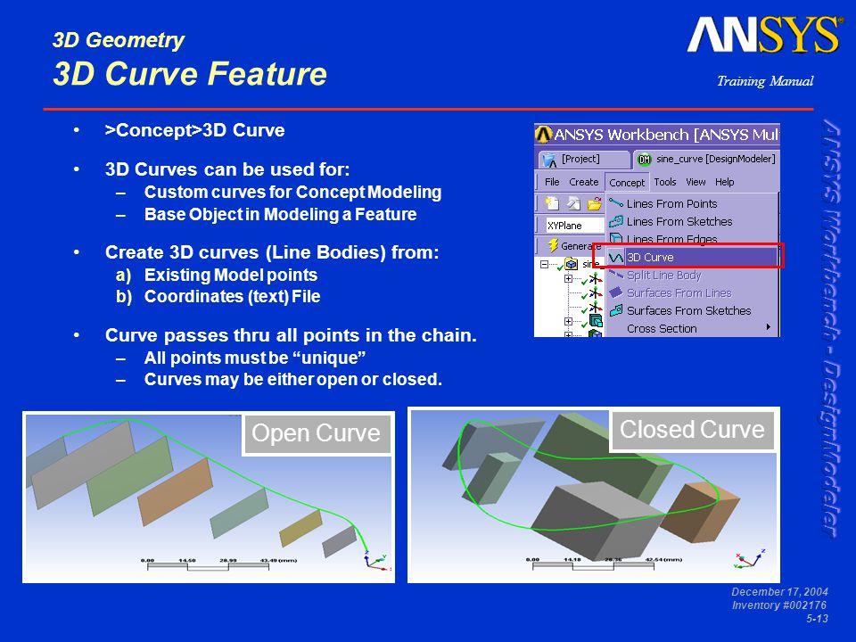 3D Geometry 3D Curve Feature