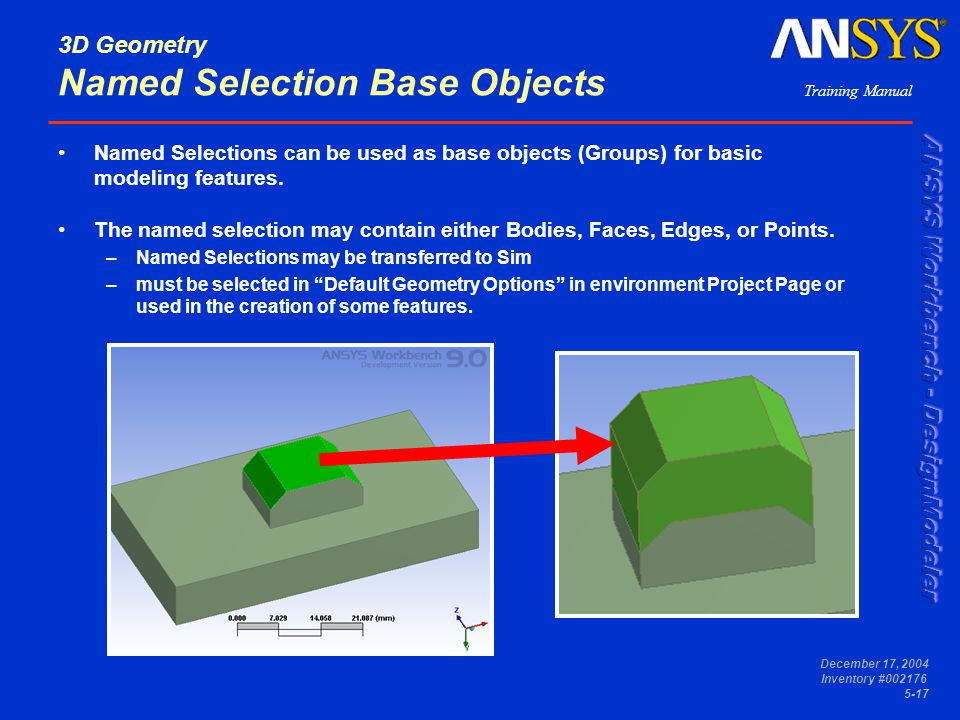 3D Geometry Named Selection Base Objects