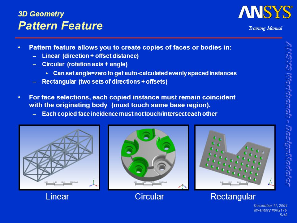 3D Geometry Pattern Feature