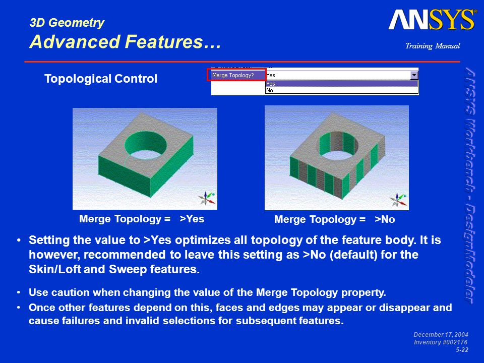 3D Geometry Advanced Features…