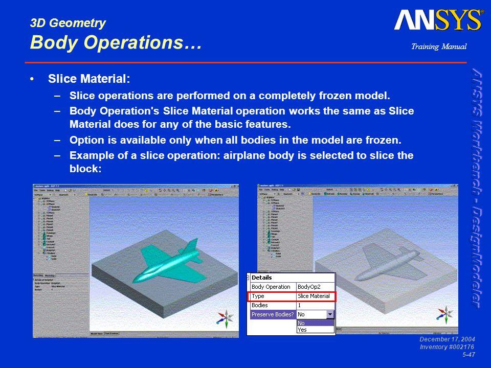 3D Geometry Body Operations…