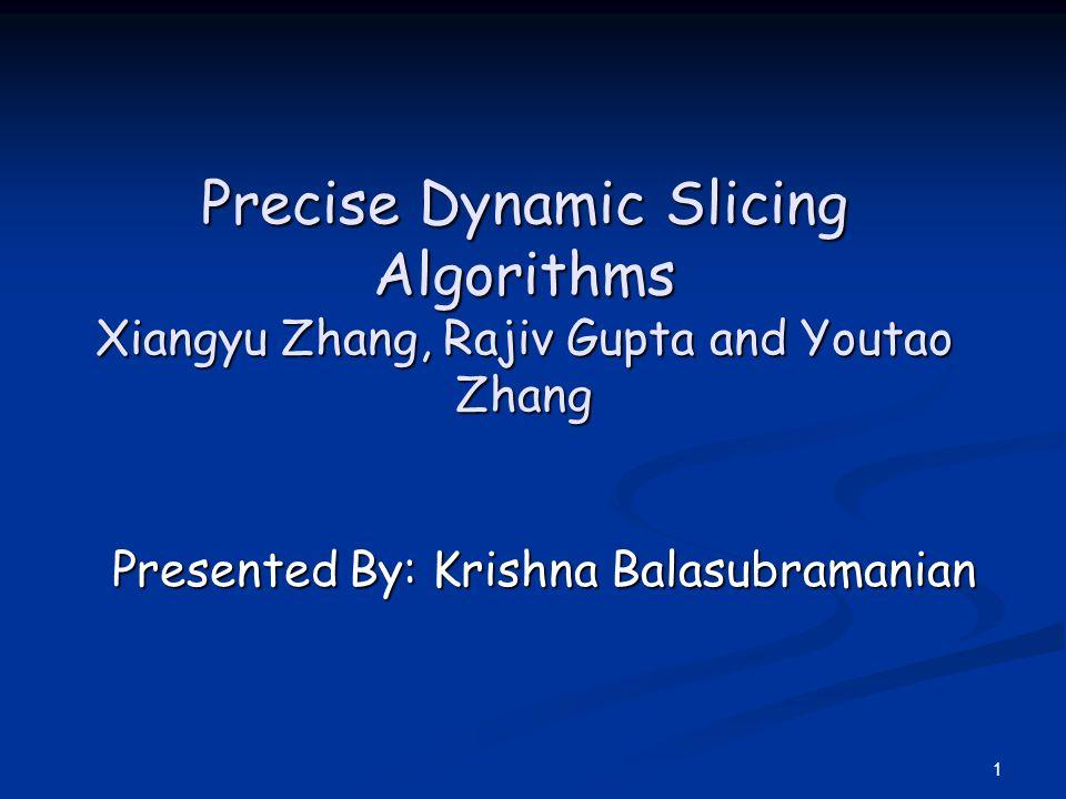 Presented By: Krishna Balasubramanian