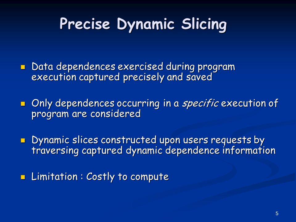 Precise Dynamic Slicing