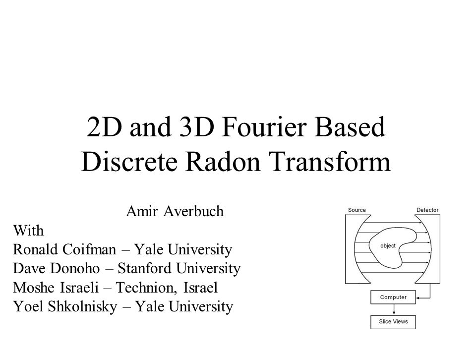 2D and 3D Fourier Based Discrete Radon Transform