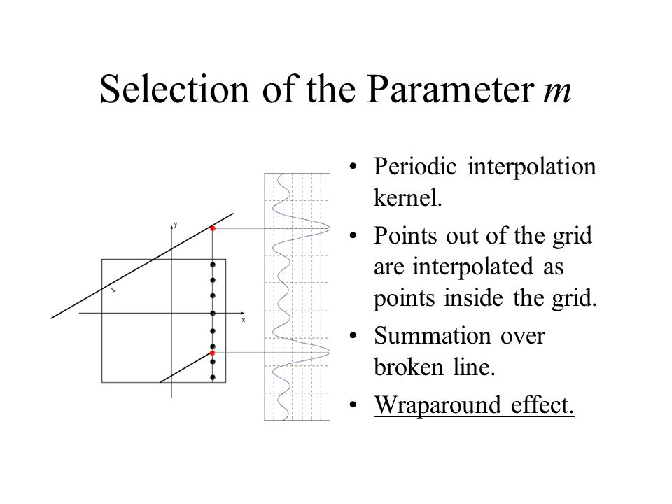 Selection of the Parameter m