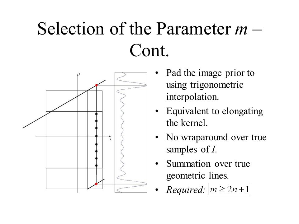Selection of the Parameter m – Cont.