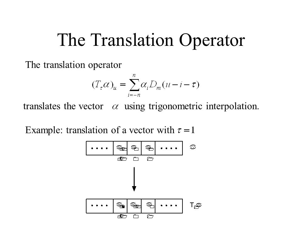 The Translation Operator