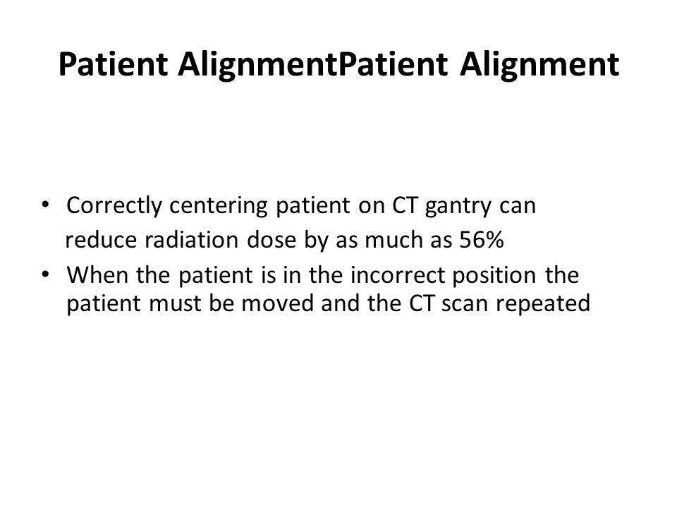 Patient AlignmentPatient Alignment