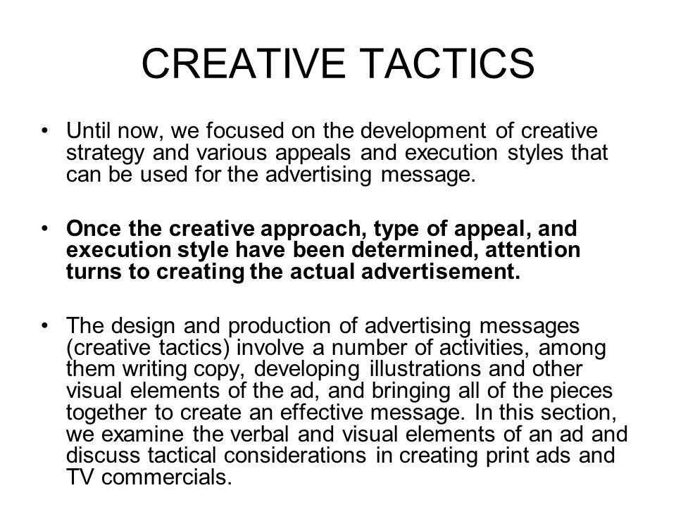 CREATIVE TACTICS