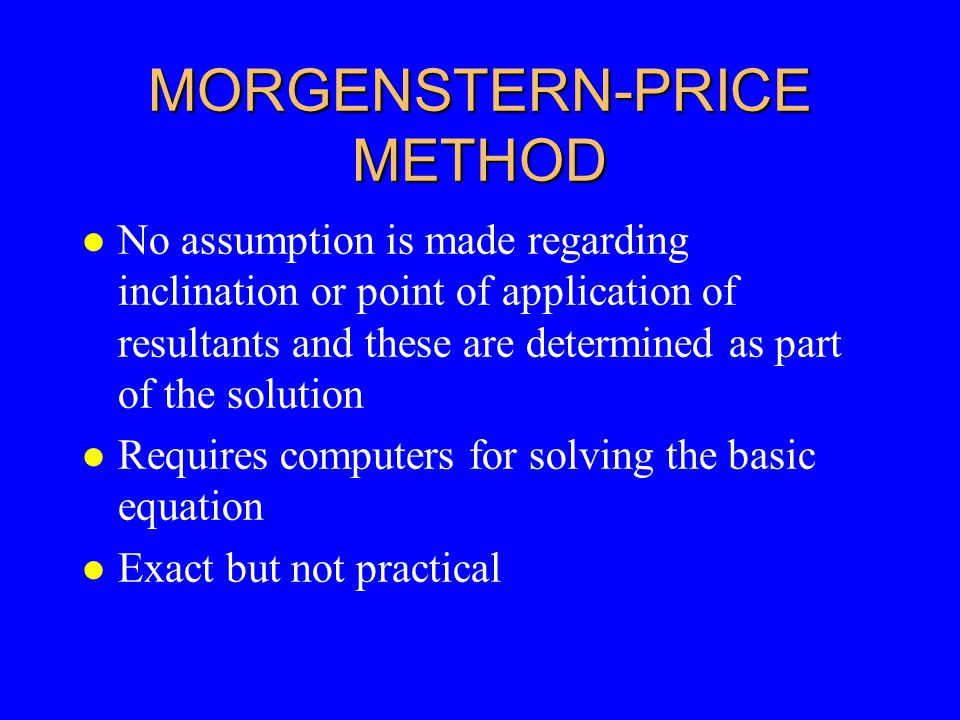MORGENSTERN-PRICE METHOD