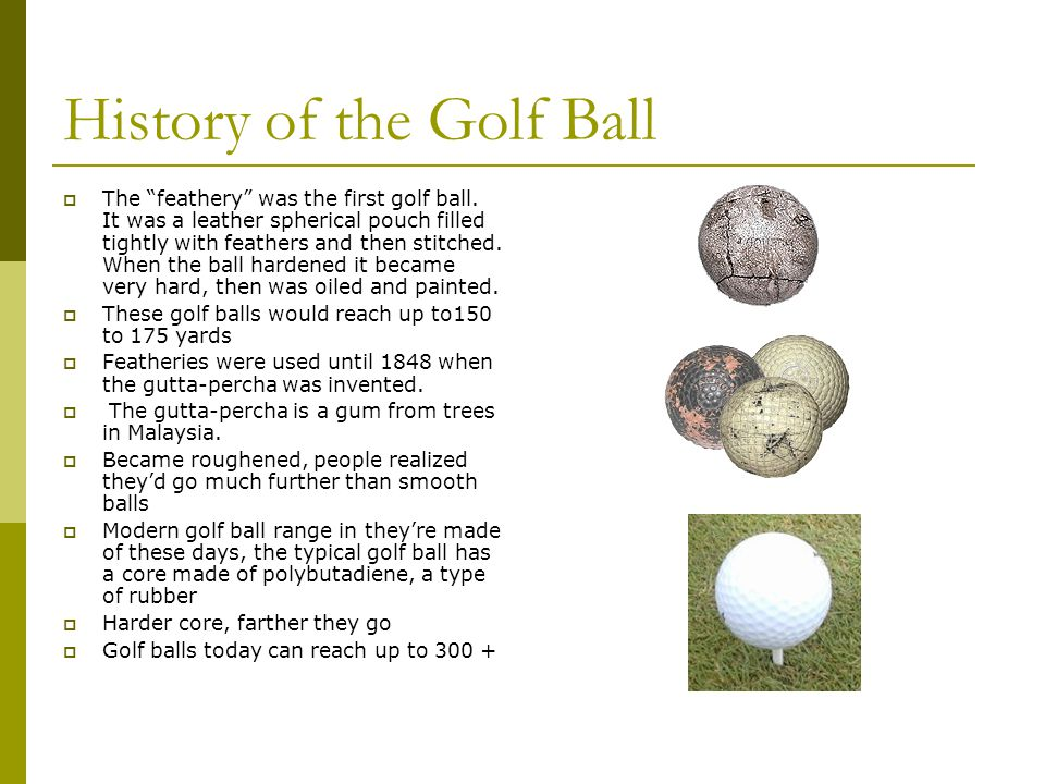 History of the Golf Ball