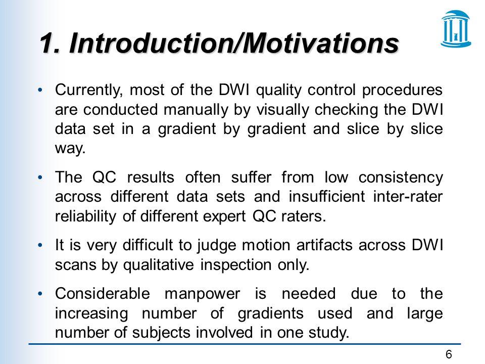 1. Introduction/Motivations