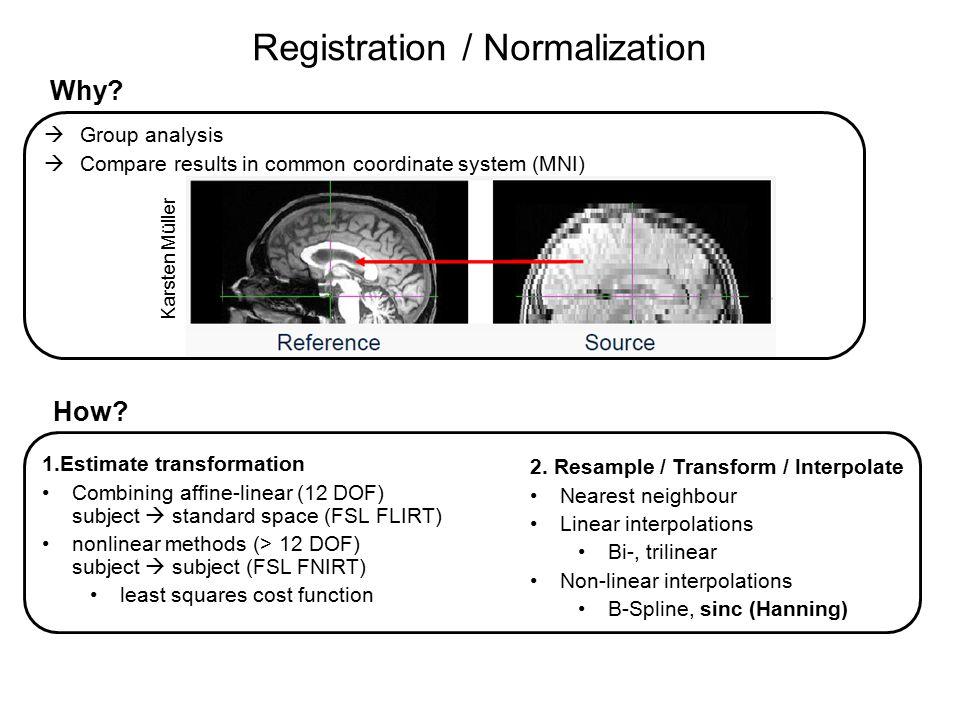 Registration / Normalization