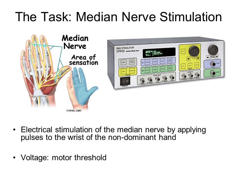 The Task: Median Nerve Stimulation