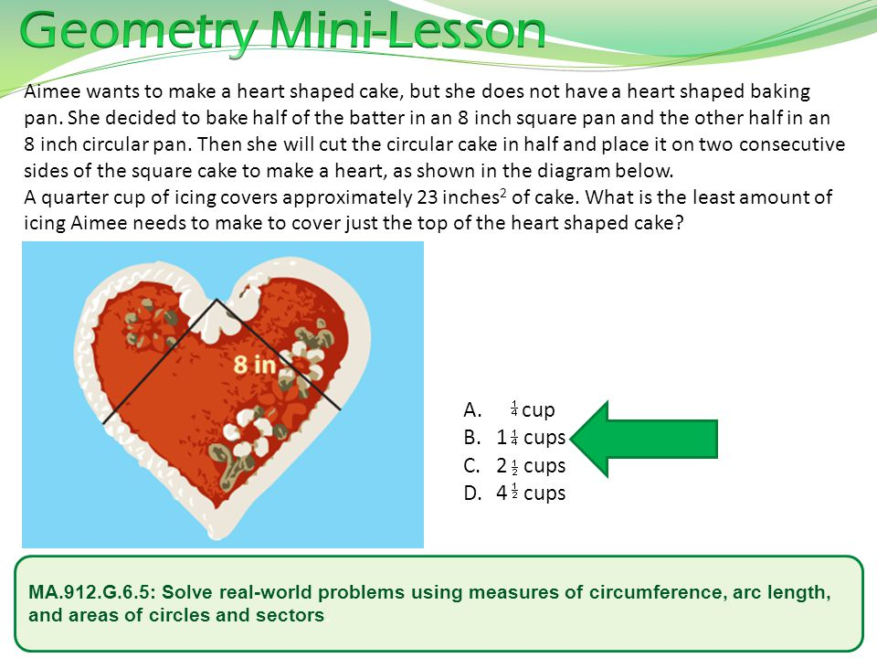 Geometry Mini-Lesson cup 1 cups 2 cups 4 cups