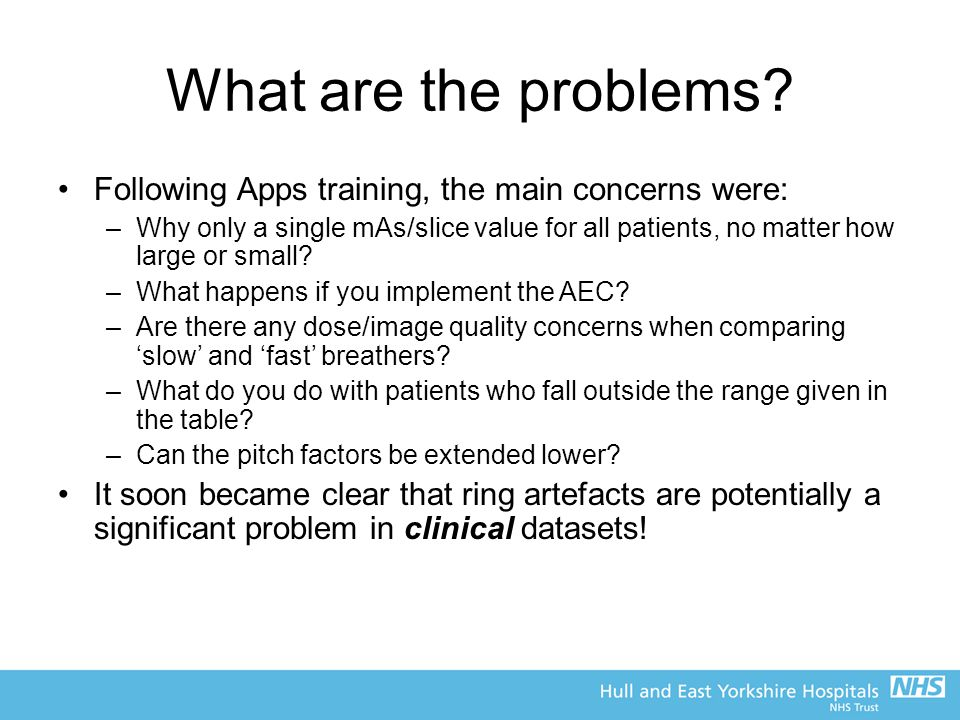 What are the problems Following Apps training, the main concerns were: