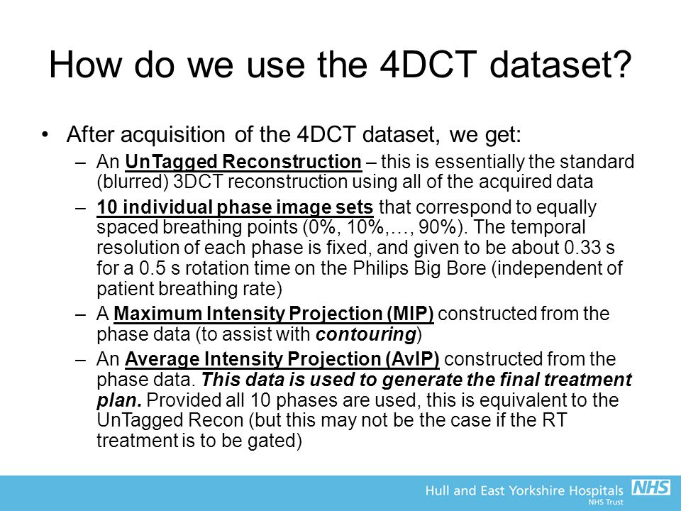 How do we use the 4DCT dataset